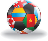 Vector soccer ball Stock Image