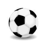 Vector soccer ball. Isolated on white Stock Photo