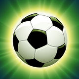 Vector soccer ball. EPS 8.0 file available royalty free illustration