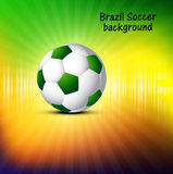 Vector Soccer ball with brasil colors concept celebration backgr Stock Photography