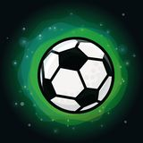 Vector soccer ball on green background Stock Image