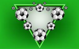 The Vector soccer ball royalty free stock photos