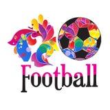 Vector soccer ball. soccer ball on white background. sport symbol Stock Photography