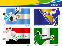 Vector soccer brazil 2014 group F Stock Photography