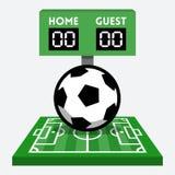 Vector soccer composition Stock Photography