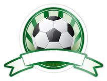 Vector soccer emblem Royalty Free Stock Photos