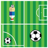 Vector soccer field Stock Images