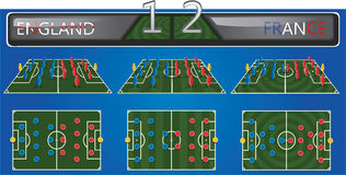 Vector soccer field with strategy formation Stock Photo