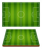 Vector Soccer Fields Striped Grass Royalty Free Stock Images