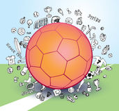 Vector soccer icon set Royalty Free Stock Photos