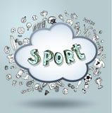 Vector soccer icon set Royalty Free Stock Photo