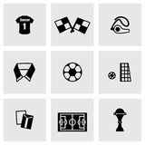 Vector Soccer icon set Stock Photography