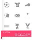 Vector soccer icon set Royalty Free Stock Photos