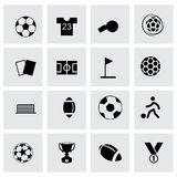 Vector soccer icon set Stock Photography
