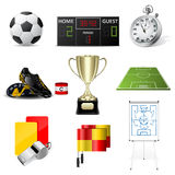 Vector soccer icons Royalty Free Stock Photos