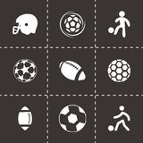 Vector soccer icons set Royalty Free Stock Photo