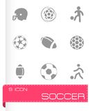 Vector soccer icons set Royalty Free Stock Image