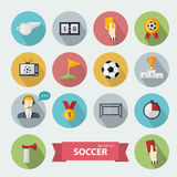 Vector soccer icons vector illustration