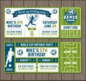 Vector Soccer Party invites Stock Photos