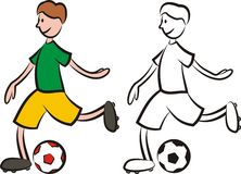 Vector soccer player - striker Stock Photography