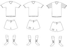 Vector soccer player uniform Royalty Free Stock Photography