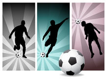 Vector Soccer Players #2. Easy Change Colors Royalty Free Stock Image
