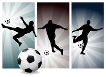 Vector Soccer Players. Easy Change Colors. (Check out my portfolio for other silhouettes royalty free illustration