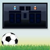 Vector Soccer Scoreboard. Vector Template Stock Photo