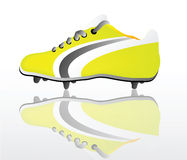 Vector soccer shoe Stock Photos
