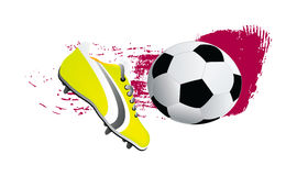 Vector soccer shoe and ball Stock Photo