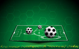 Vector soccer and stadium green field background. Eps 10 vector Royalty Free Stock Image