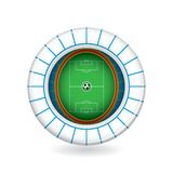 Vector soccer stadium icon. 3d. Vector soccer stadium icon. Clean 3d illustration Stock Photography