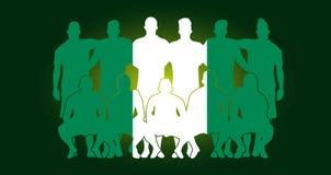 vector soccer team flag design russia wallpaper sport soccer players line up stock illustration