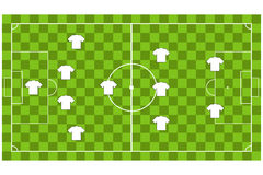 Vector of Soccer team formation Stock Photo