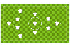 Vector of Soccer team formation Royalty Free Stock Images