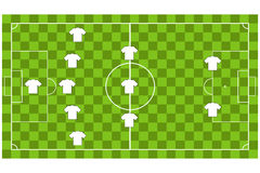 Vector of Soccer team formation Stock Photography