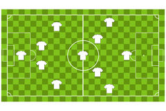 Vector of Soccer team formation Stock Images
