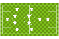 Vector of Soccer team formation Royalty Free Stock Photo