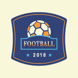 Vector Soccer Tournament 2018 Logo Template Stock Images