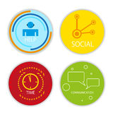 Vector social icons Stock Image