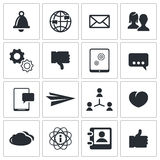 Vector social icons set Royalty Free Stock Image