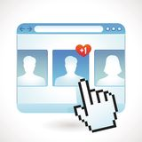 Vector social media concept Stock Photo