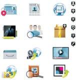 Vector social media icon set Stock Photo