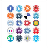Vector Social Media Icons 2 Royalty Free Stock Photo