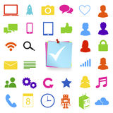 Vector of social media icons Communication Concept. Stock Photo