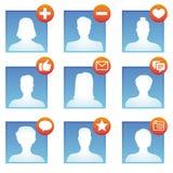 Vector social media icons Stock Photography