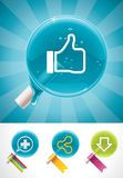 Vector social media lollipops Stock Image