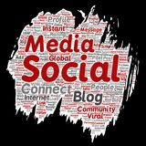 Vector social media networking or communication Stock Image