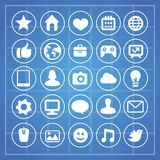 Vector social media and technology signs Stock Image