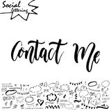 Vector social media word. Lettering for your blog. Hand drawn elements for decoration Stock Photography